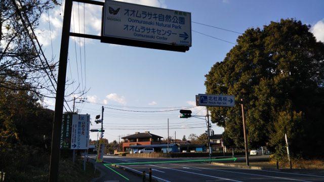 オオムラサキセンター前交差点を撮影した画像