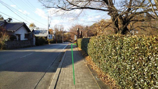 直進した右側がオオムラサキセンター入り口を撮影した画像