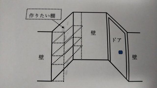 棚の設置場所を説明した図