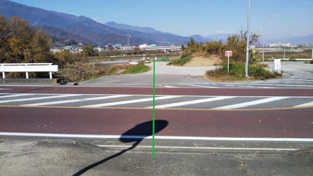 県道4号線を撮影した画像