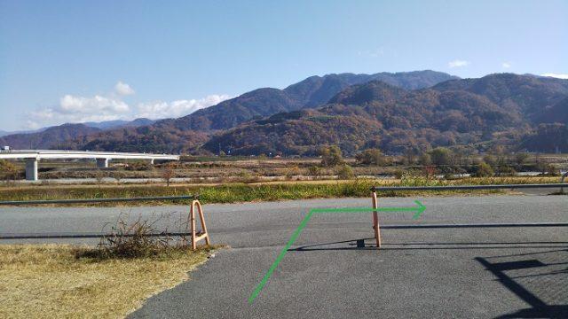 道の駅富士川を右折する画像
