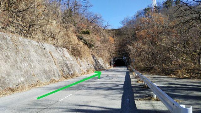 1つ目のトンネル(日野春トンネル)に入る写真