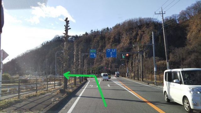 左手に須玉ICが見える写真