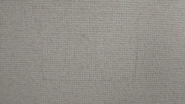 壁紙のりが乾燥した後を撮影した写真